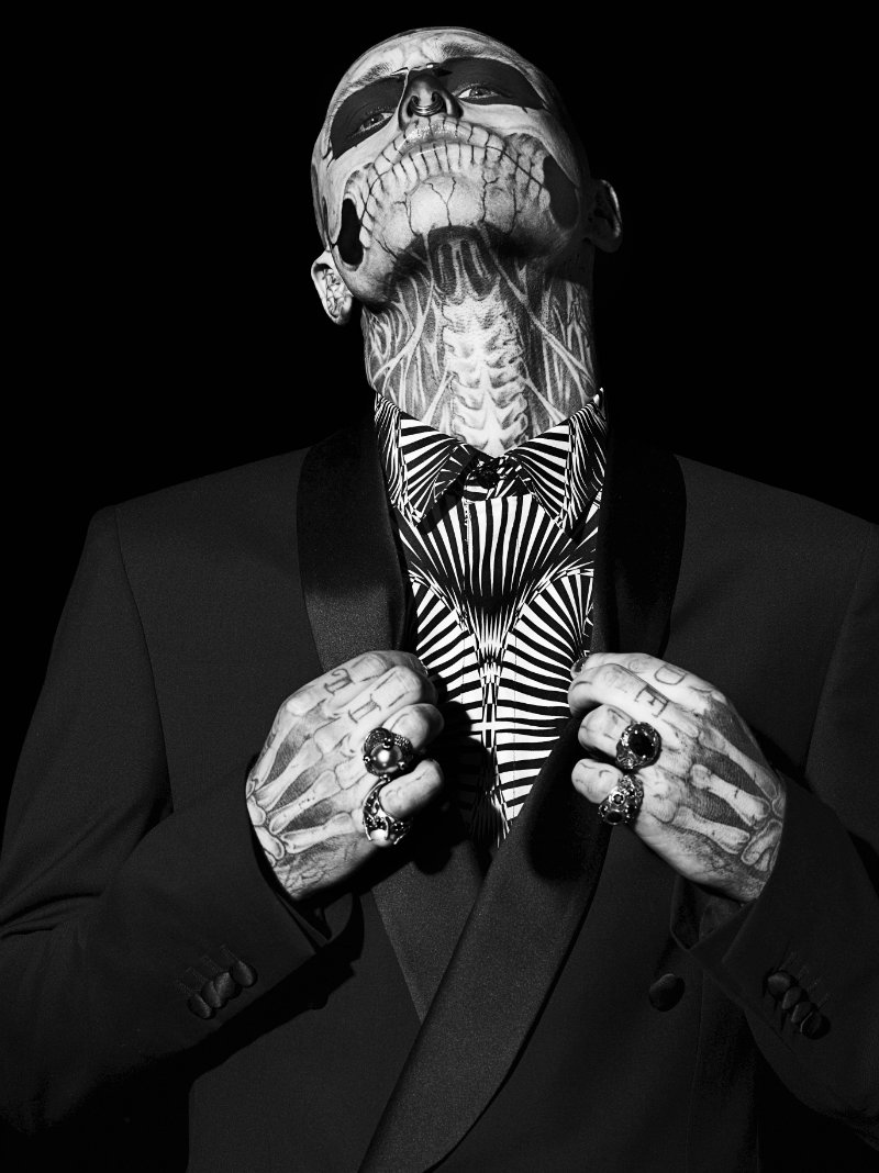 Von Angela Fotografie Lifestyle Mode Model Rick Genest Skelett Tattoo
